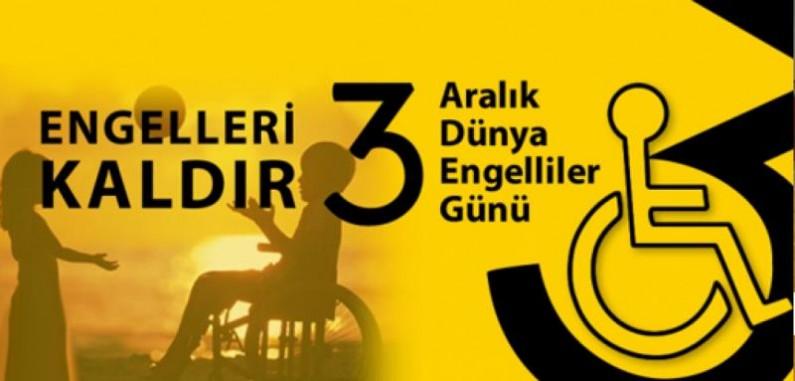 3 Aralık Dünya Engelliler Günü Kutlu Olsun